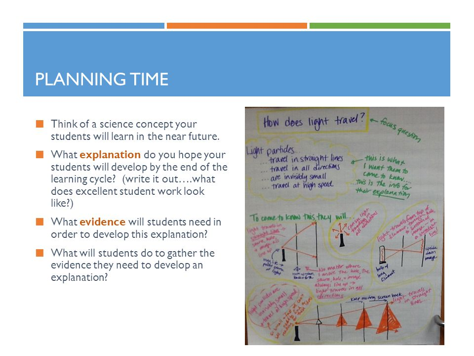 Planning Time Think of a science concept your students will learn in the near future.