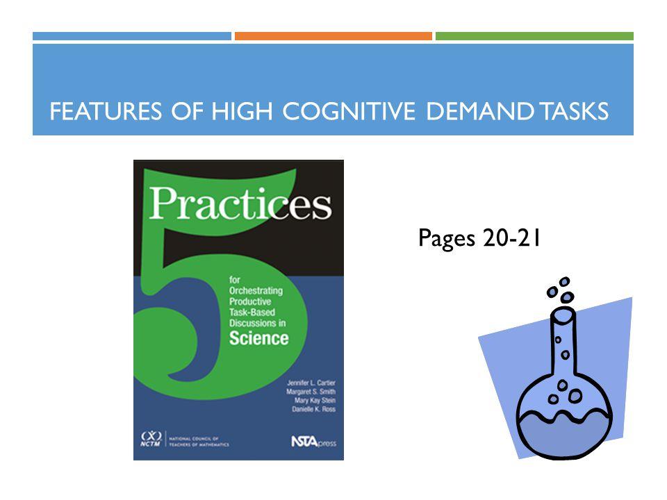 Features of High Cognitive Demand Tasks
