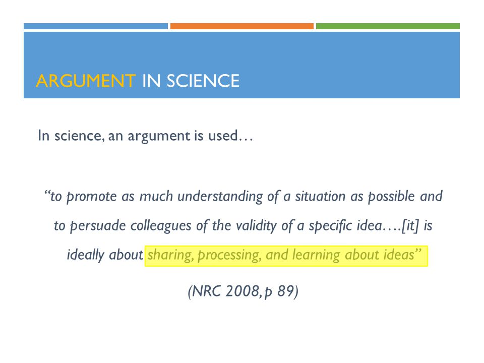 Argument in Science