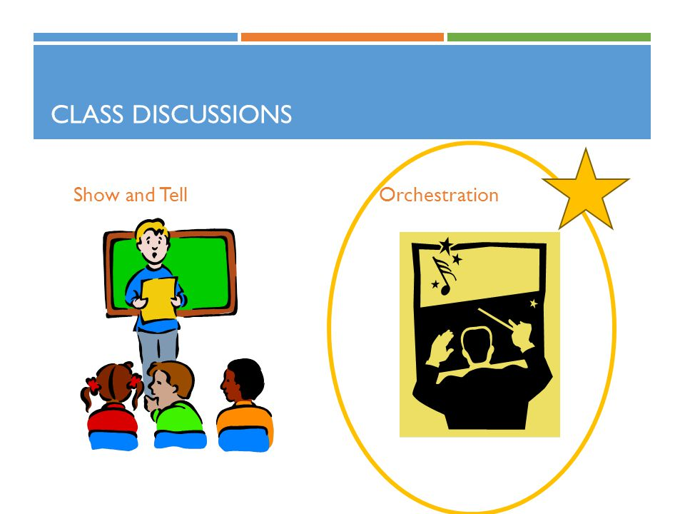 Class Discussions Show and Tell Orchestration