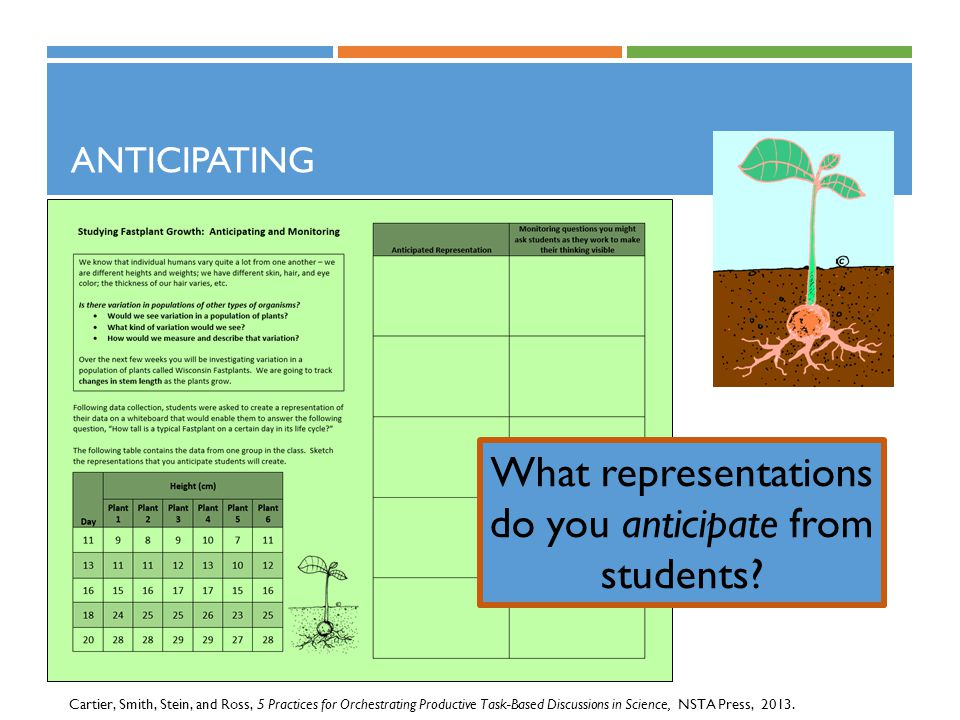 What representations do you anticipate from students