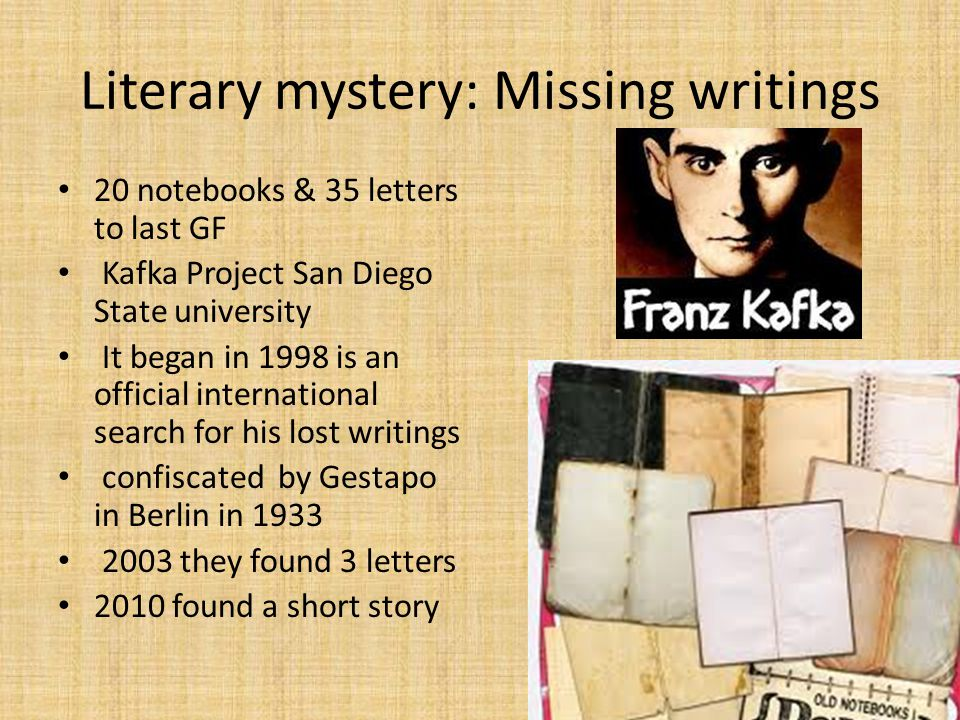 Literary mystery: Missing writings