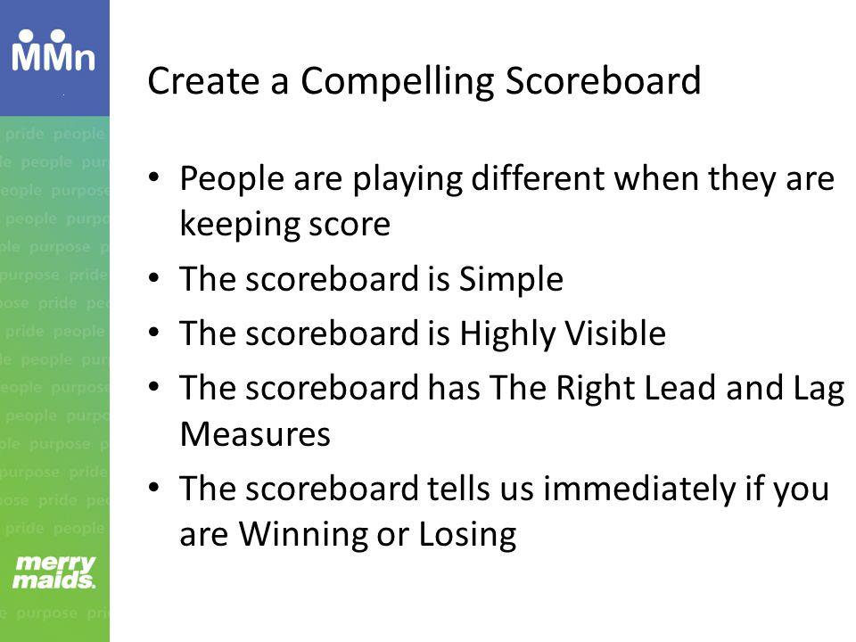 Create a Compelling Scoreboard