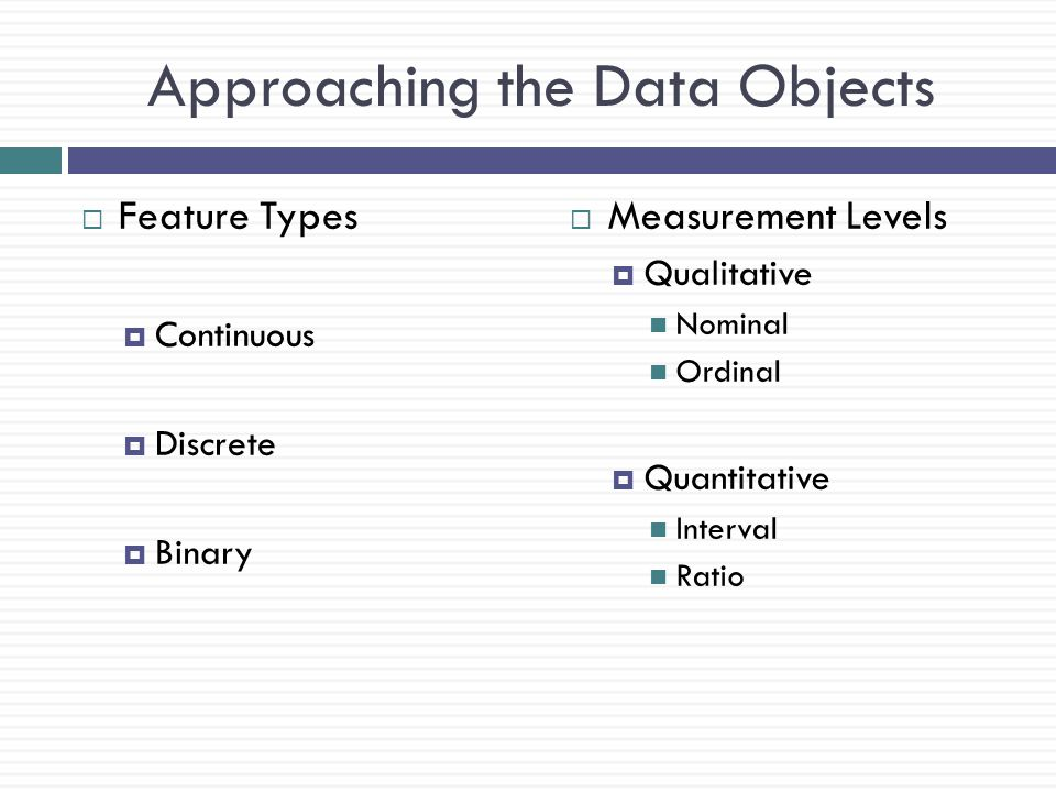 Approaching the Data Objects