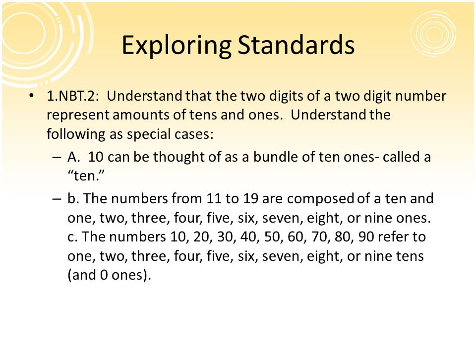 Exploring Standards
