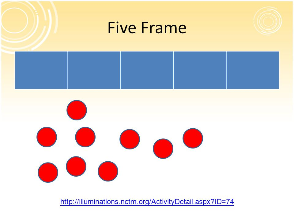 Five Frame http://illuminations.nctm.org/ActivityDetail.aspx ID=74