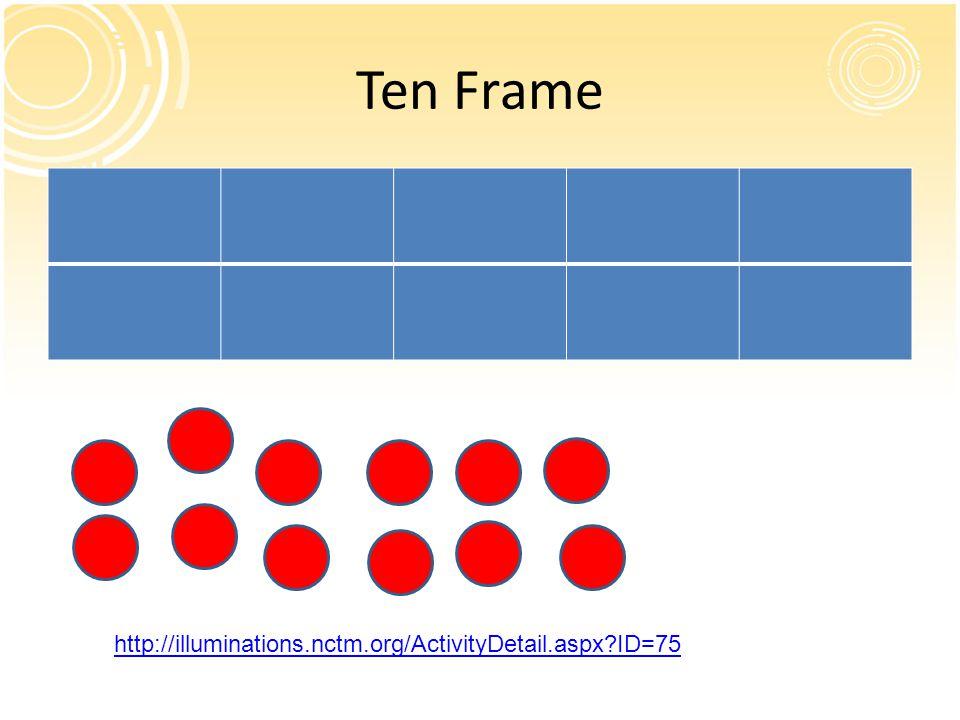 Nctm illuminations ten frame game frame design reviews for Sierra motors ottawa il