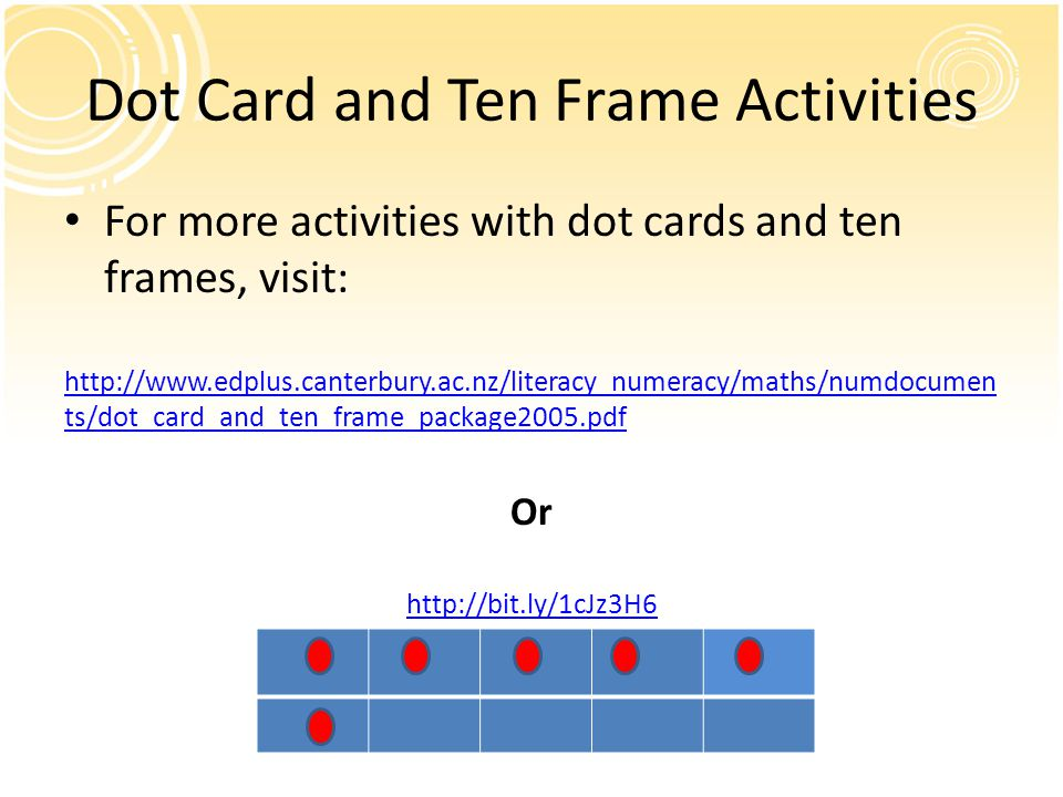 Dot Card and Ten Frame Activities