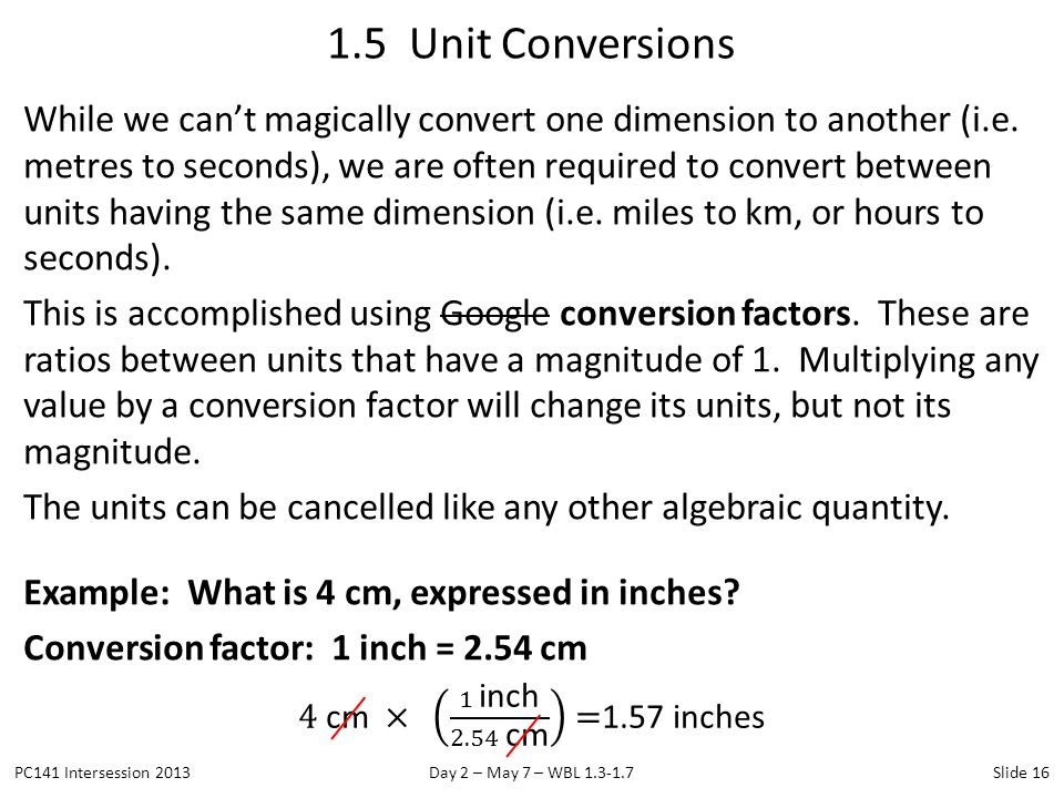1.5 Unit Conversions