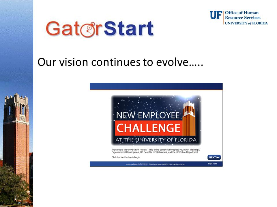 Our vision continues to evolve…..