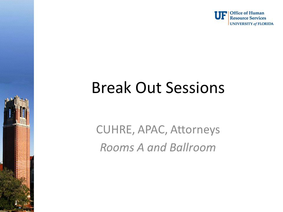 CUHRE, APAC, Attorneys Rooms A and Ballroom