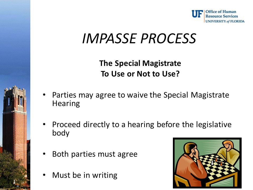 The Special Magistrate