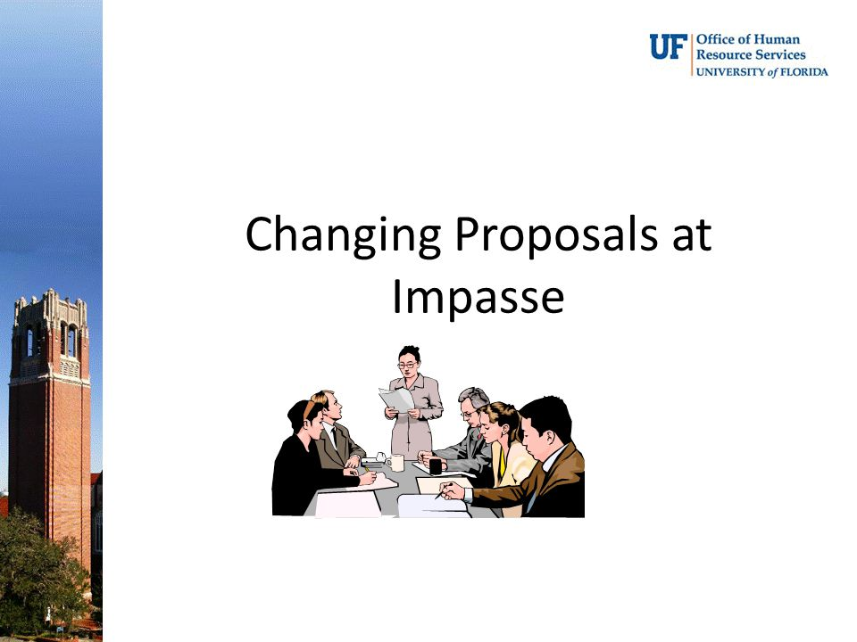 Changing Proposals at Impasse