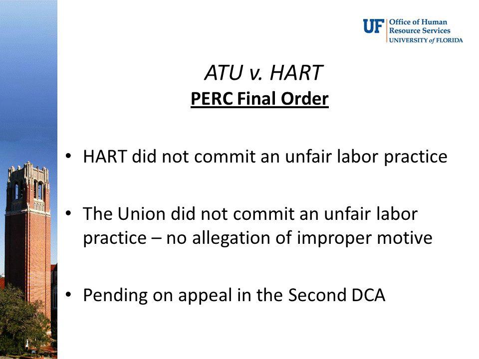 ATU v. HART PERC Final Order