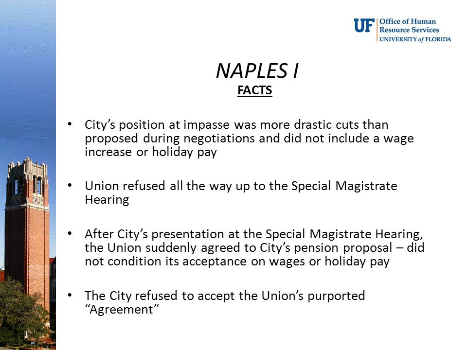 NAPLES I FACTS.