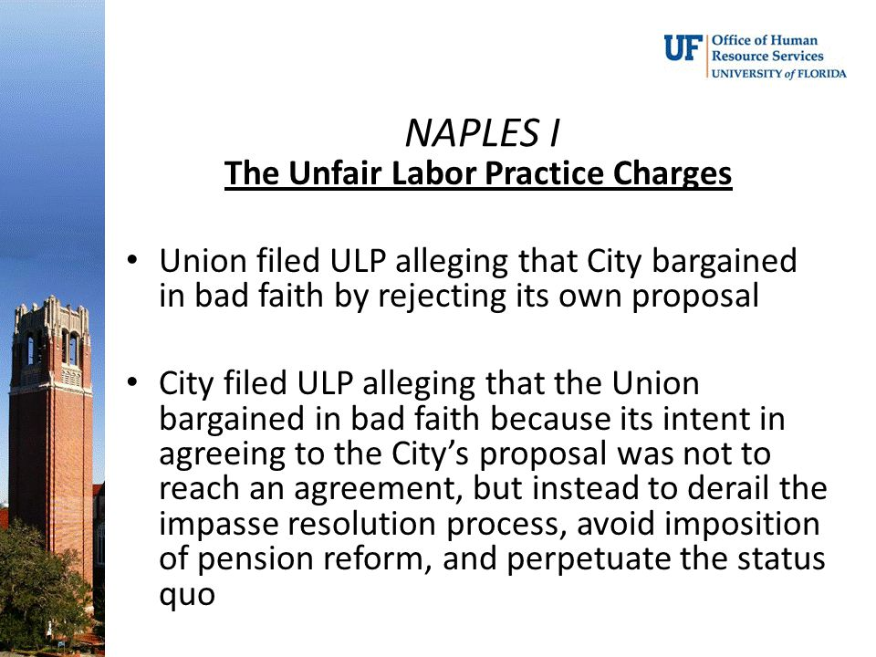 The Unfair Labor Practice Charges