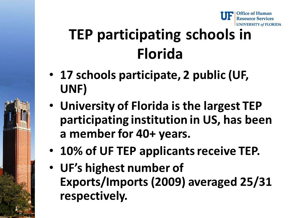 TEP participating schools in Florida