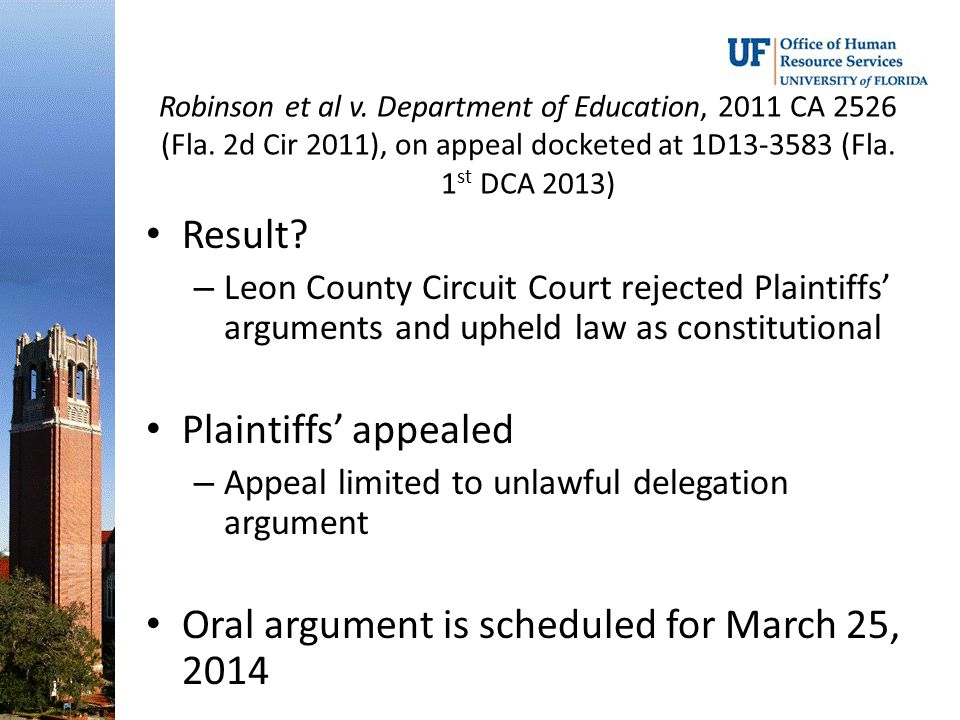 Oral argument is scheduled for March 25, 2014