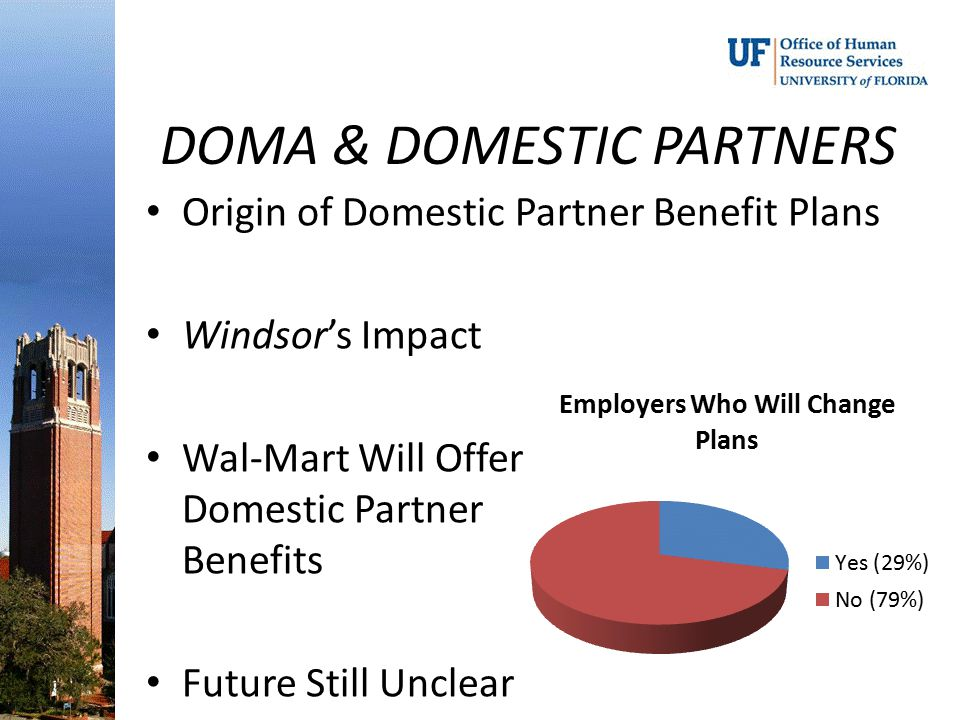 DOMA & DOMESTIC PARTNERS