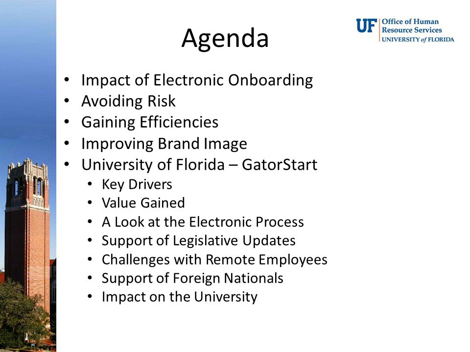 Agenda Impact of Electronic Onboarding Avoiding Risk