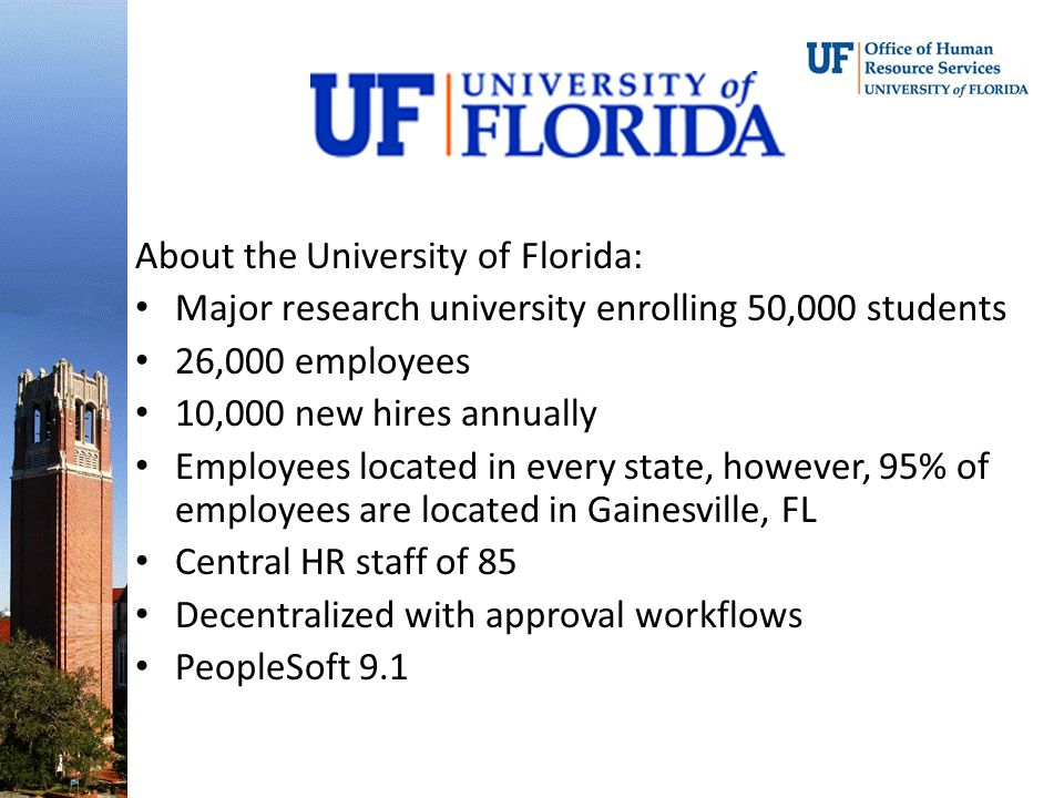 About the University of Florida: