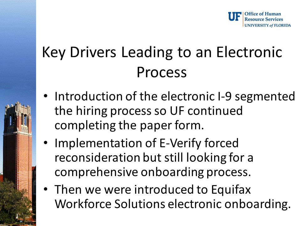 Key Drivers Leading to an Electronic Process