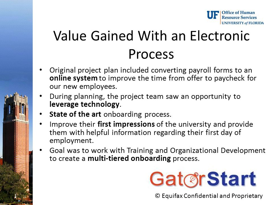 Value Gained With an Electronic Process