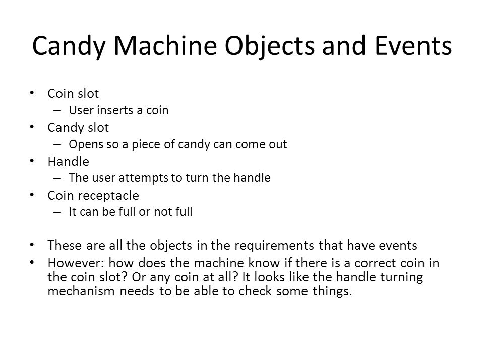 Candy Machine Objects and Events