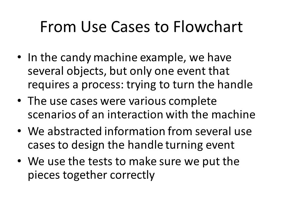 From Use Cases to Flowchart
