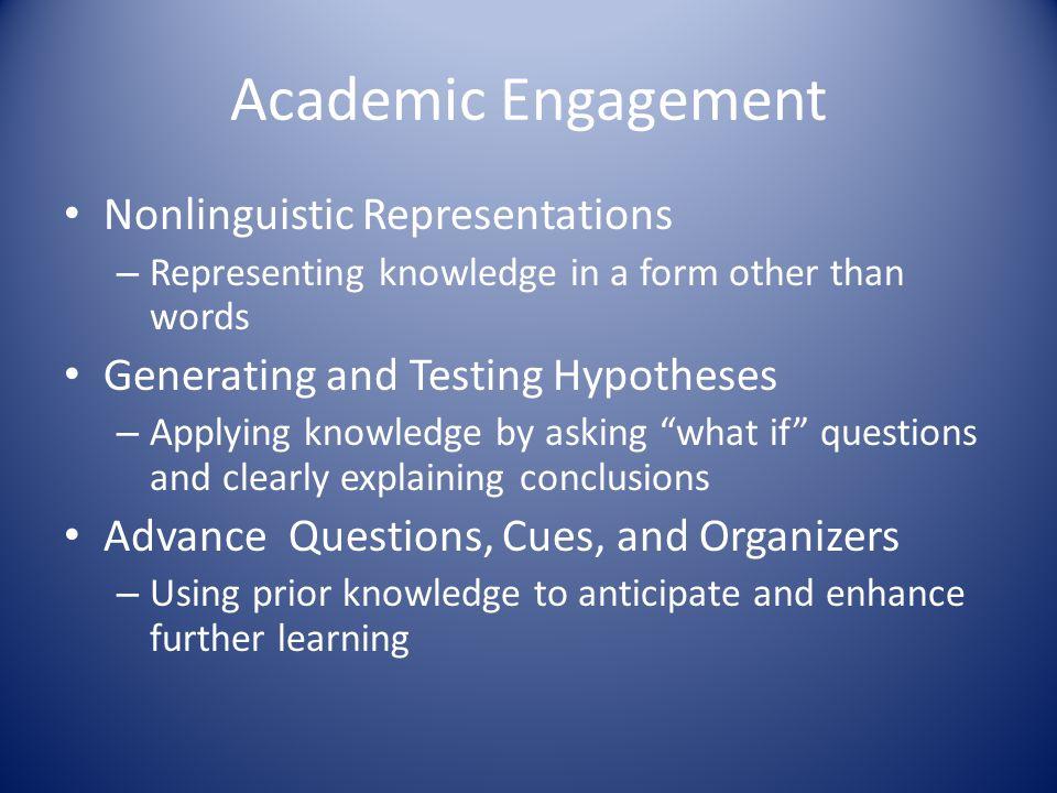 Academic Engagement Nonlinguistic Representations