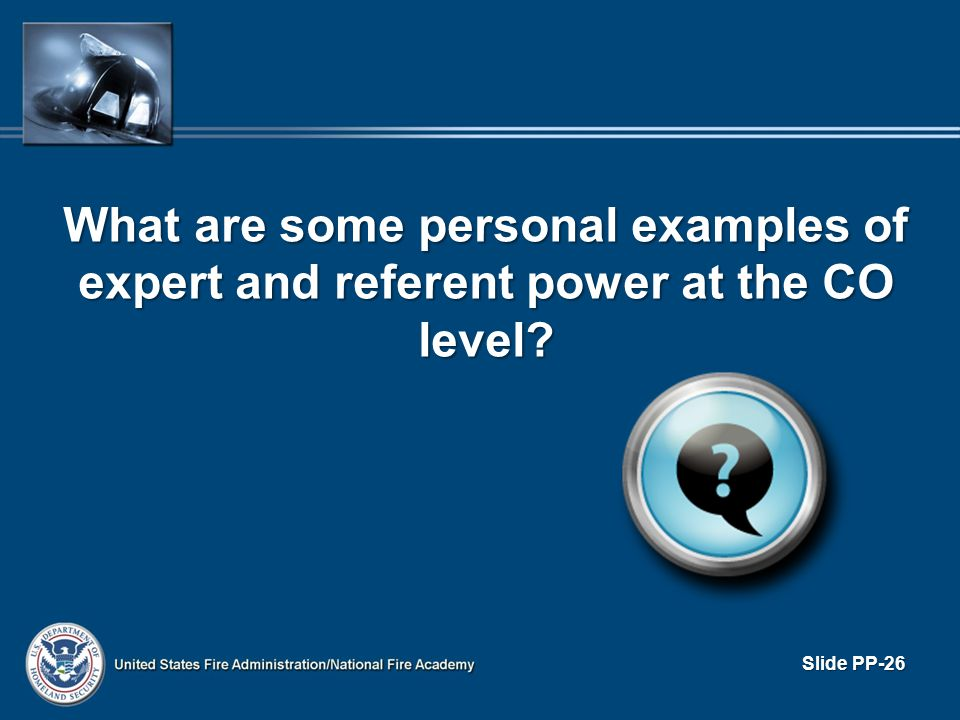 What are some personal examples of expert and referent power at the CO level