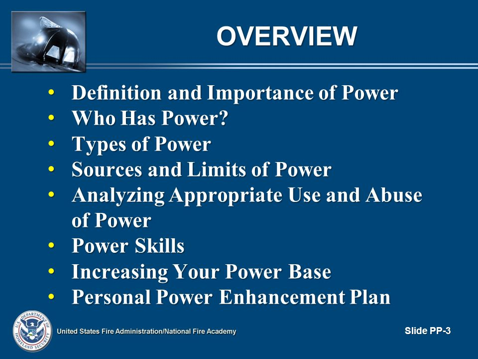 OVERVIEW Definition and Importance of Power Who Has Power