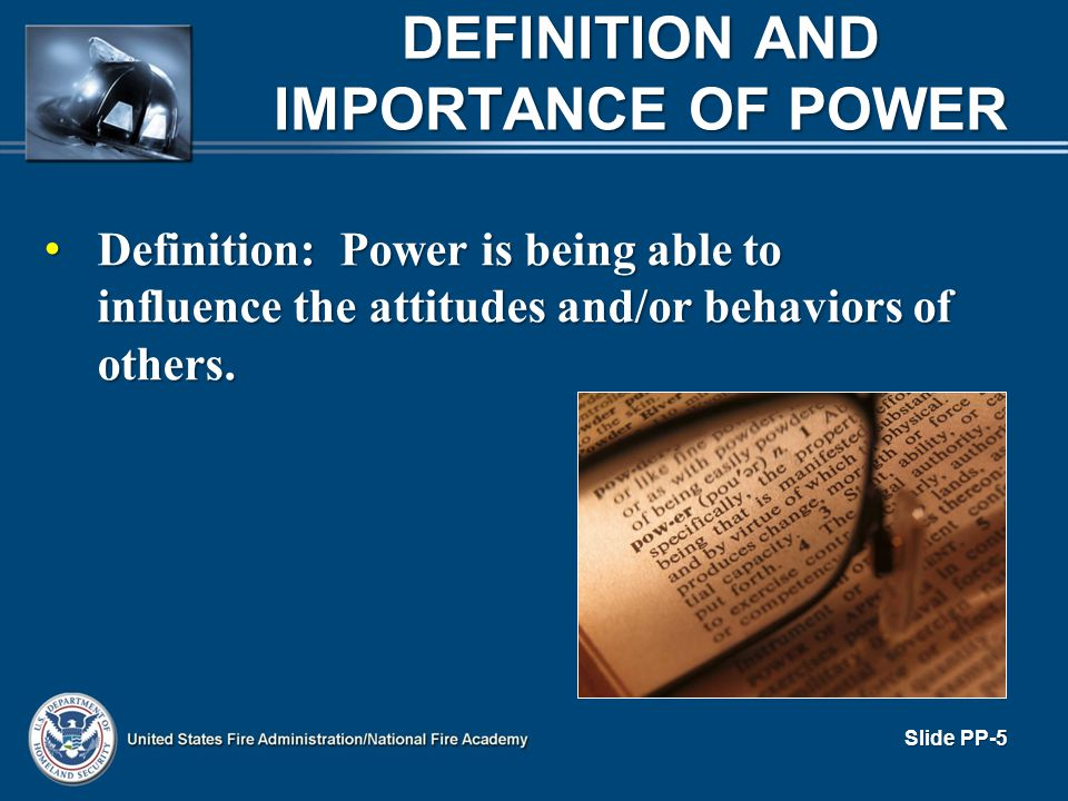 DEFINITION AND IMPORTANCE OF POWER