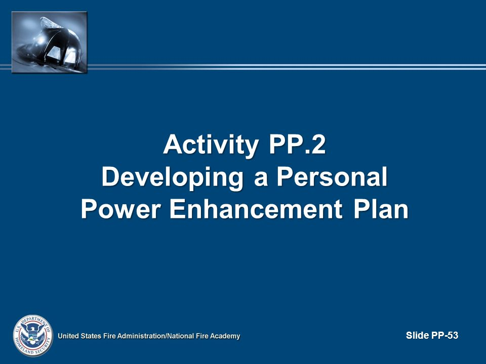 Activity PP.2 Developing a Personal Power Enhancement Plan