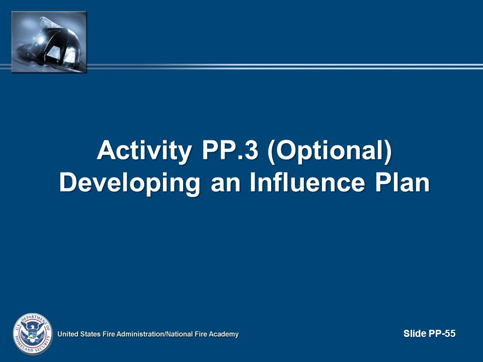 Activity PP.3 (Optional) Developing an Influence Plan