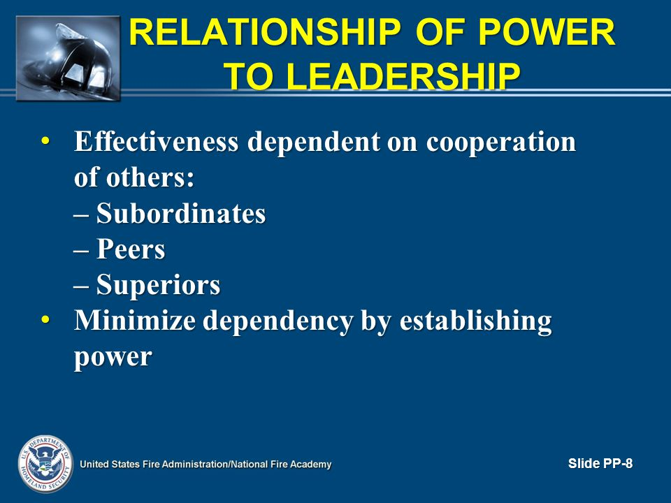 RELATIONSHIP OF POWER TO LEADERSHIP