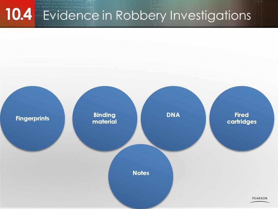 Evidence in Robbery Investigations