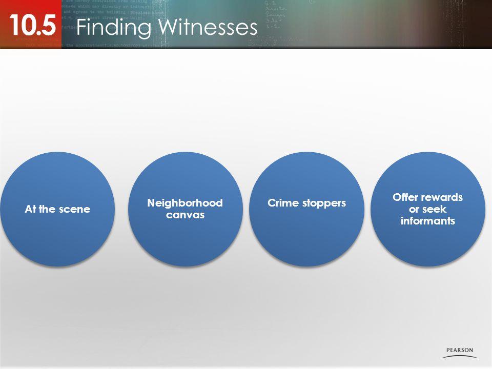 Offer rewards or seek informants