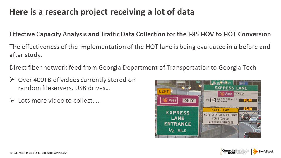 Here is a research project receiving a lot of data