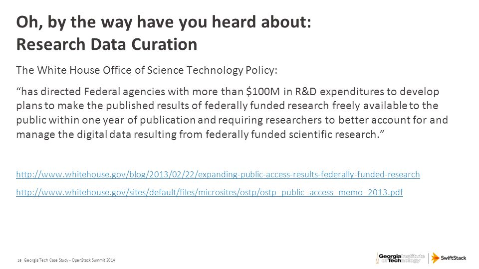 Oh, by the way have you heard about: Research Data Curation