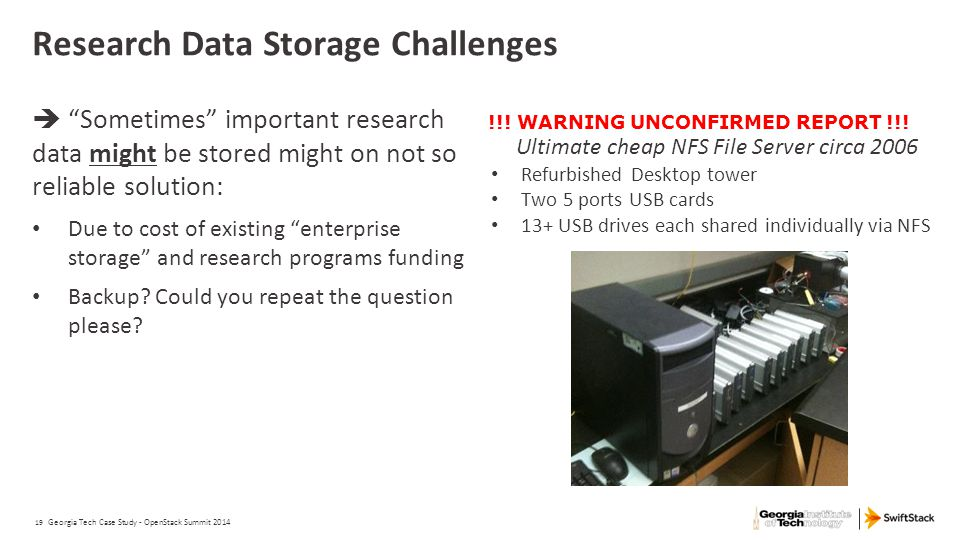 Research Data Storage Challenges