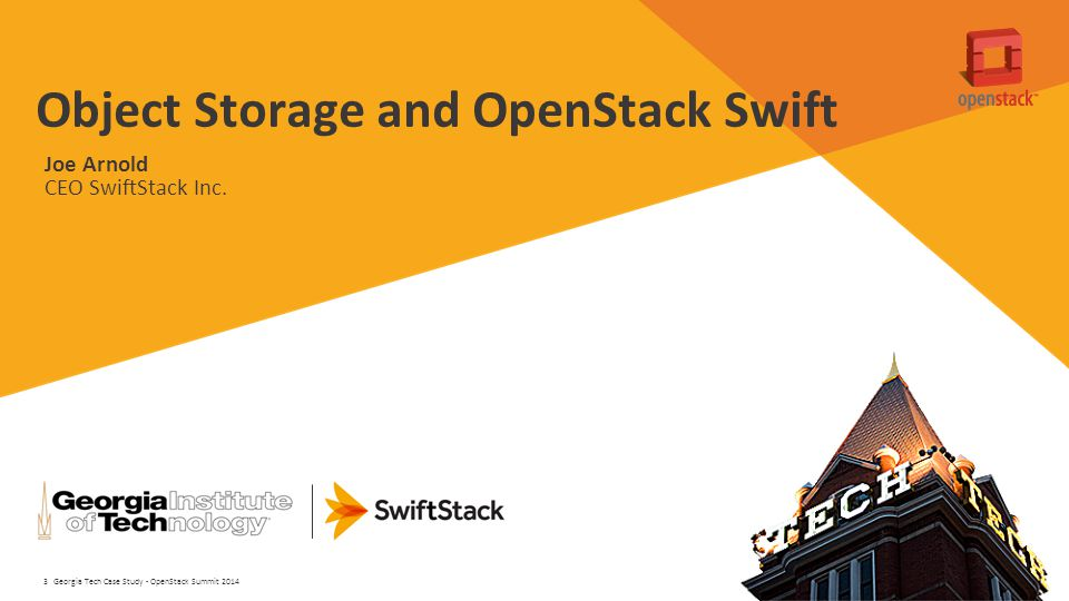 Object Storage and OpenStack Swift