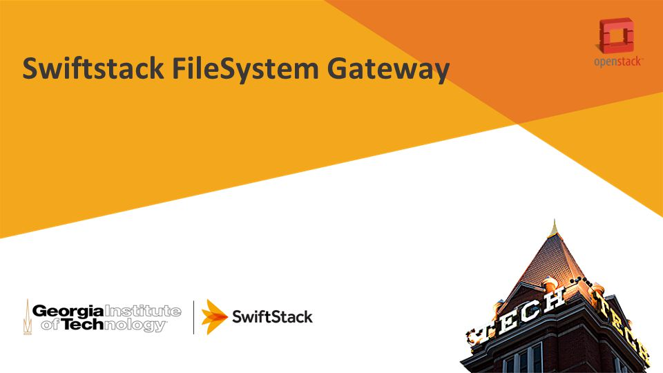 Swiftstack FileSystem Gateway
