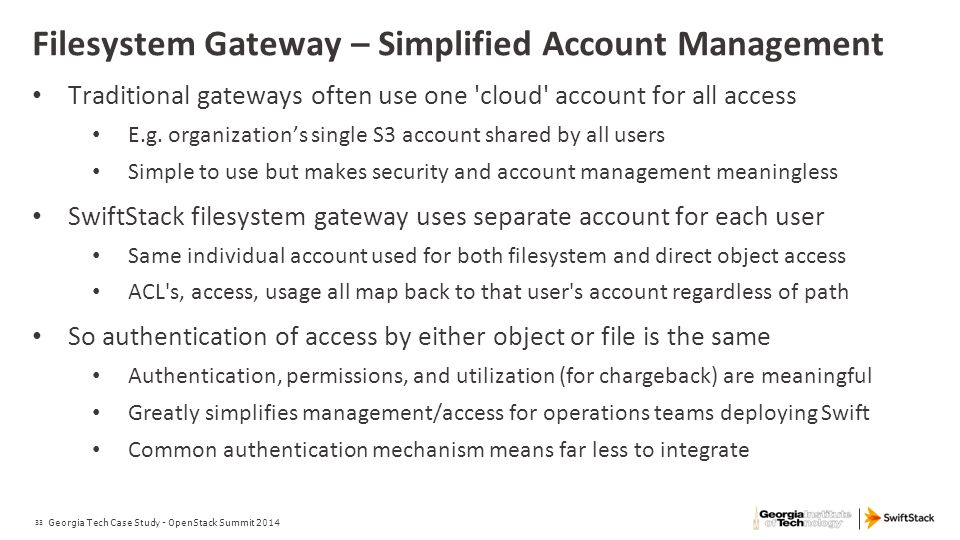 Filesystem Gateway – Simplified Account Management