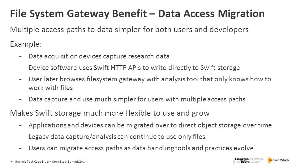File System Gateway Benefit – Data Access Migration