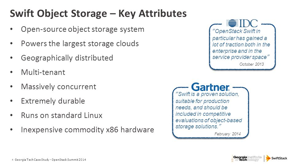 Swift Object Storage – Key Attributes