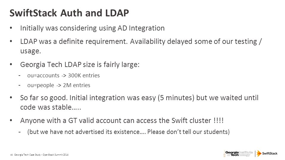 SwiftStack Auth and LDAP