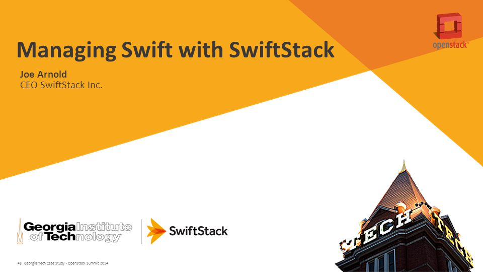 Managing Swift with SwiftStack