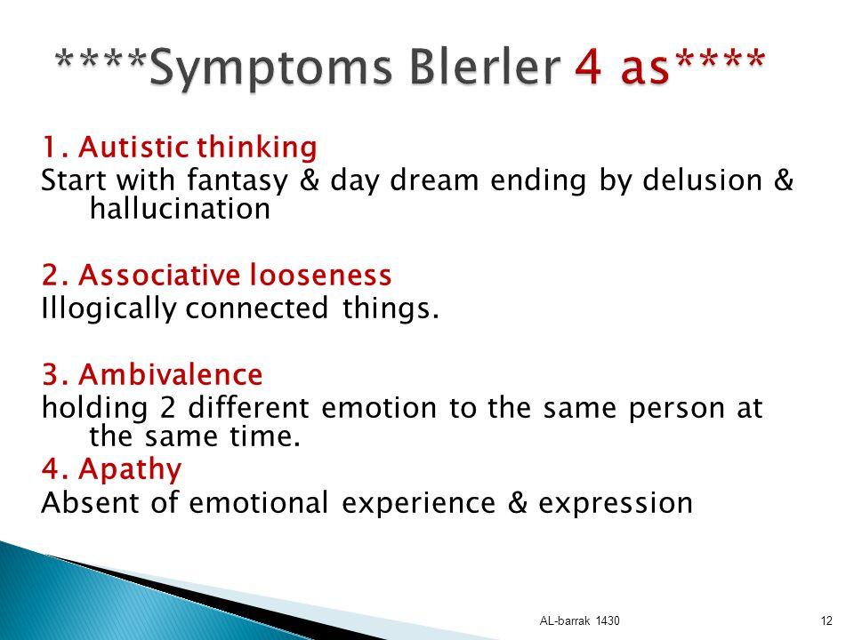 ****Symptoms Blerler 4 as****
