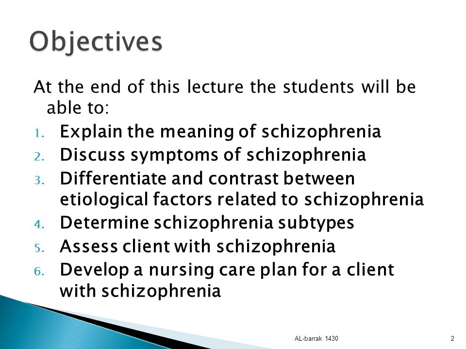 Objectives At the end of this lecture the students will be able to: